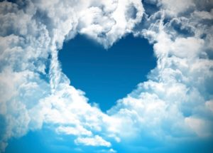 Love - cloud formation