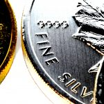 Precious Metals Bullion Investing, gold and silver Canadian Maple Leaf bullion coins, one ounce